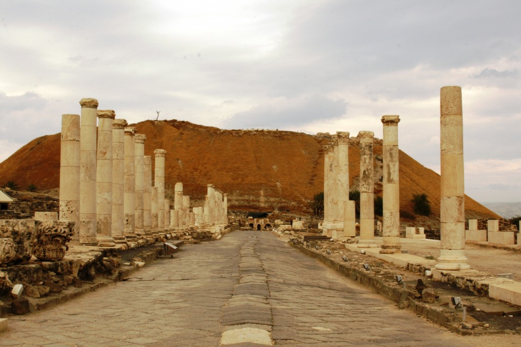 The main colonnade.  The temple ought to be on top of that hill, but was torn down centuries ago.