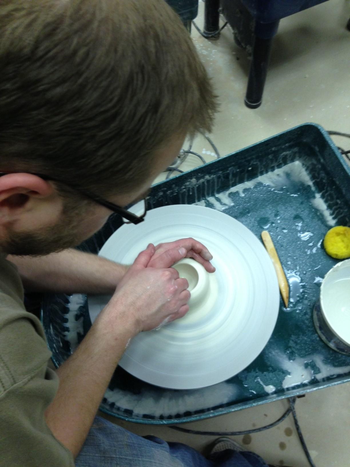 Drilling the pot - Joshua David Bennett