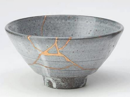 An example of Kintsugi / Kintsukuroi.  Not mine, mind you, but I hope mine turn out as well as this.